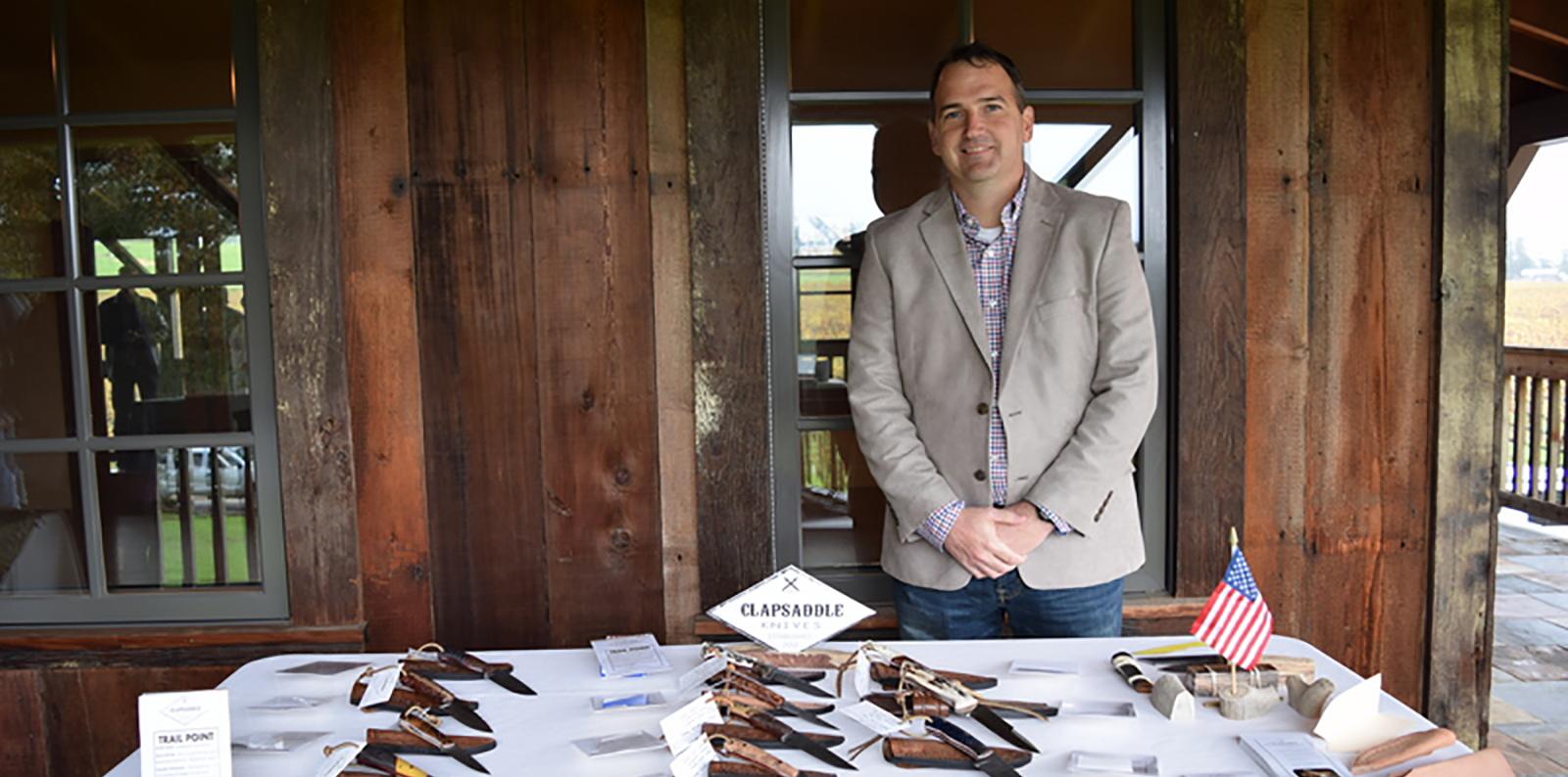 Vetreprenuer Justin Clapsaddle, Clapsaddle Custom Knives - Veteran Owned Business